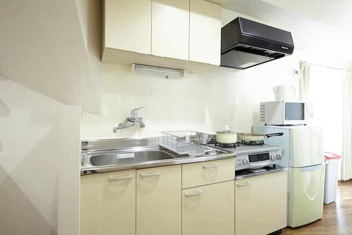 You will be able to cook in this apartment!