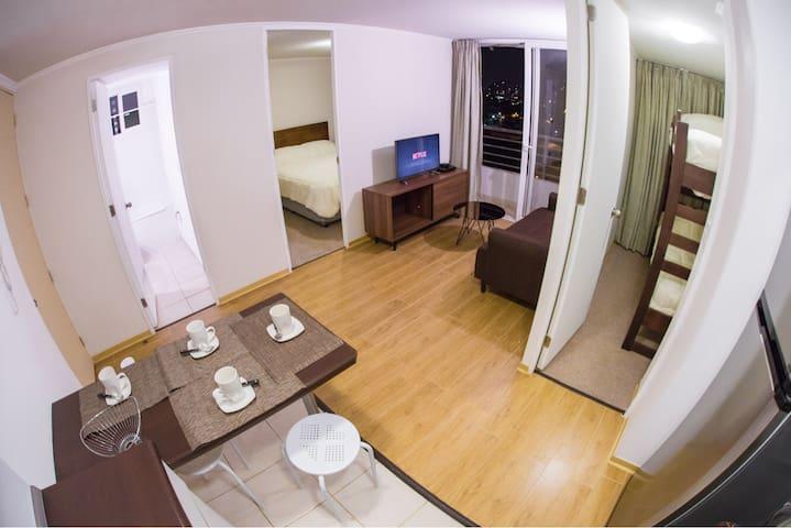 Departamento 2 dormitorios Vicuña Mackena. - Ñuñoa - Apartamento