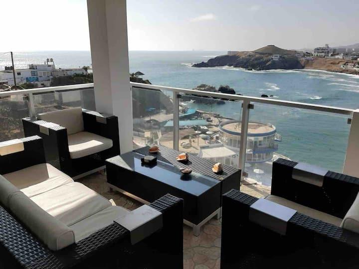 Departamento con linda vista al mar, San Bartolo.