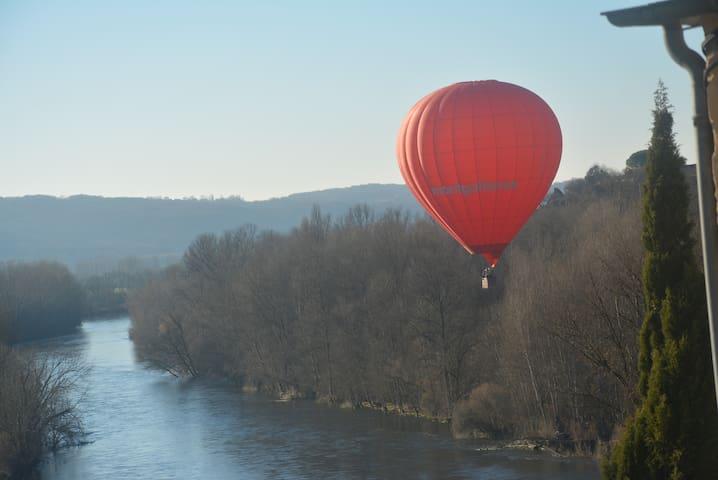 Dordogne vue de la terrasse