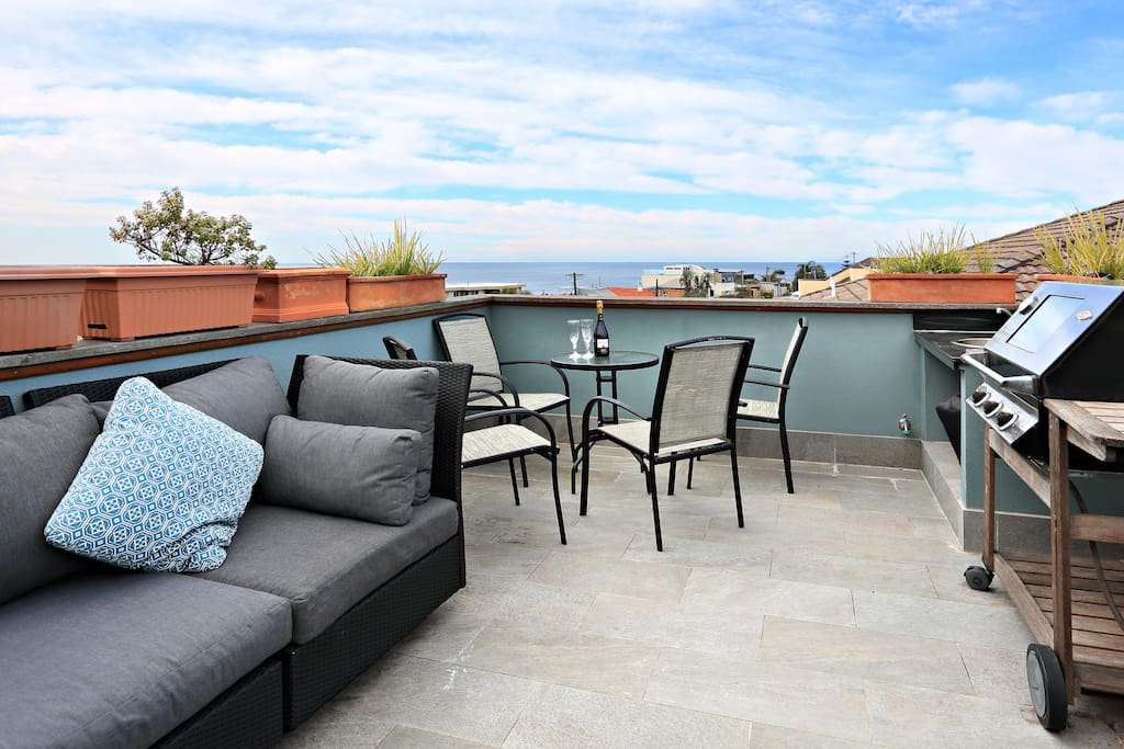 Rooftop area with BBQ