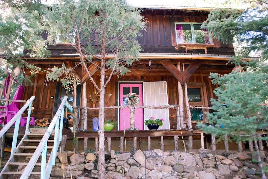 Jewelz of taos cabin private cozy in taos canyon for Cabins in taos nm