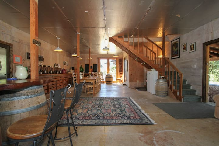 Stay upstairs in our family winery
