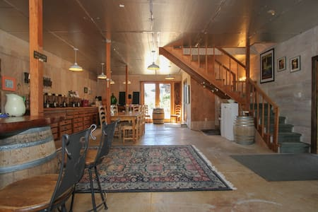 Stay upstairs in a family winery - Healdsburg