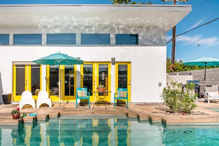Relax Poolside at a Colorful Oasis with a Dreamy Desert Vibe