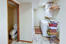 Enjoy access to the washer/dryer in the mudroom, just off the half bathroom.