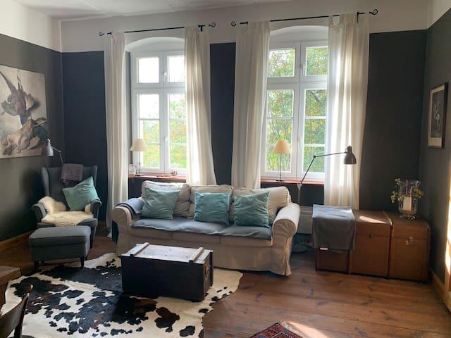 Im Gutshaus wohnen - mit eigenem Bootshaus