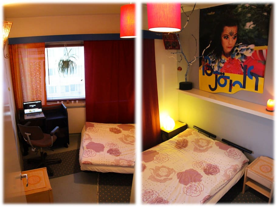 Bedroom: 1 Double bed, Desktop, Furniture & Closet ( Private Room )