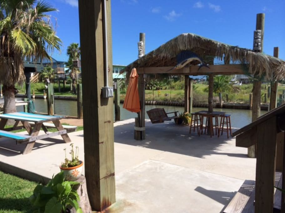 The Palapa! Many outdoor sitting areas.
