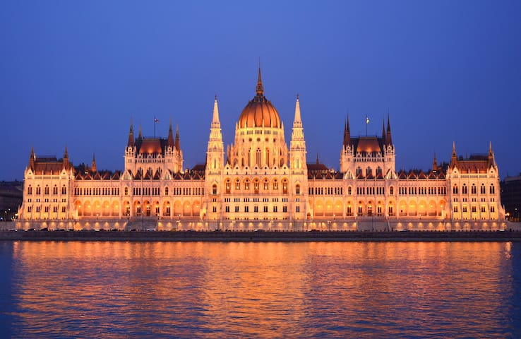 Beautiful apartment with Danube & Parliament