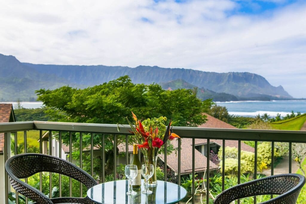 New lanai furniture overlooking the North Shore surf