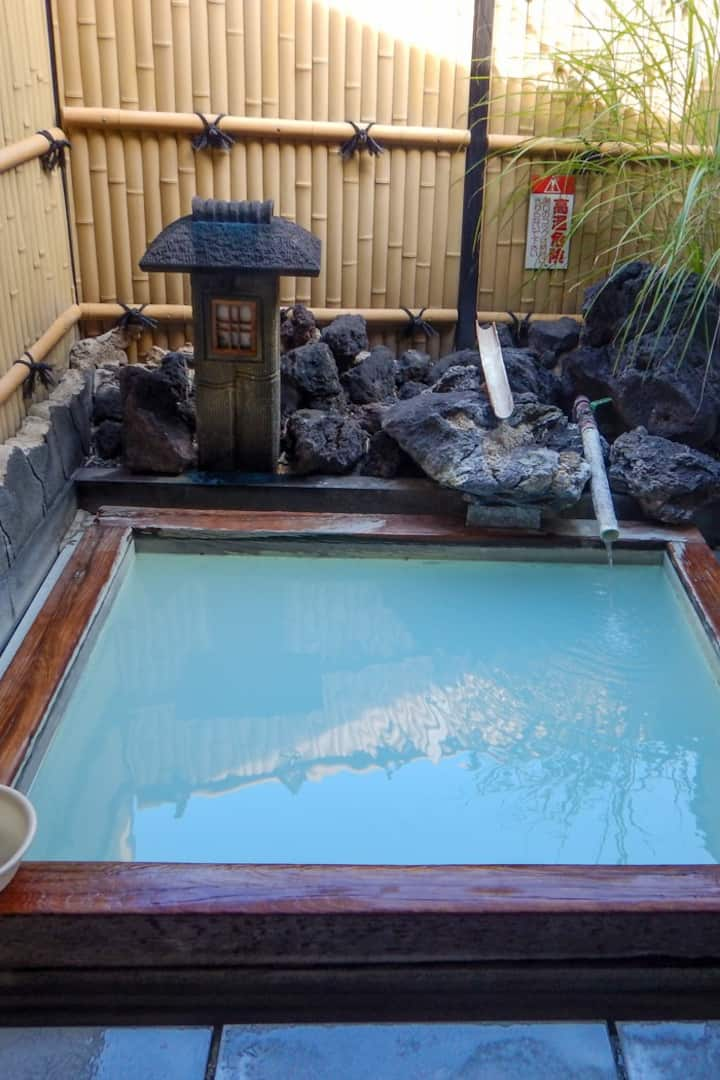 Your private sulfuric onsen