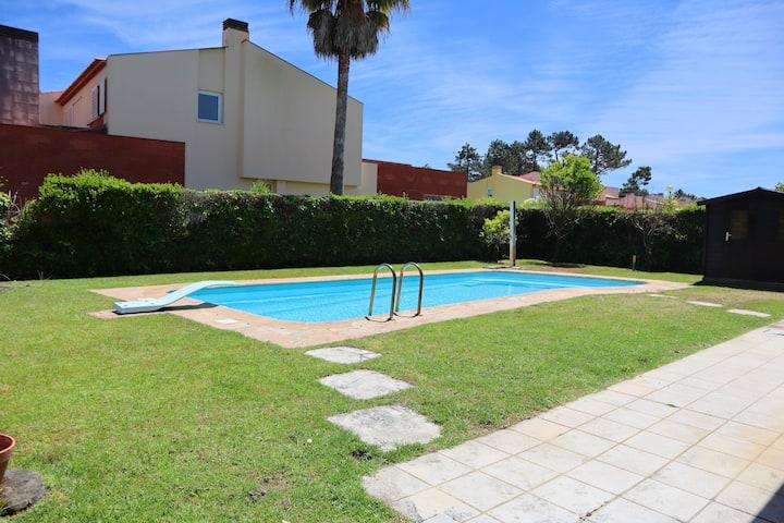 Villa de 4 chambres à Praia de Mira, avec piscine privée, jardin clos et WiFi