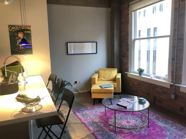 Bright loft apartment downtown Dallas!