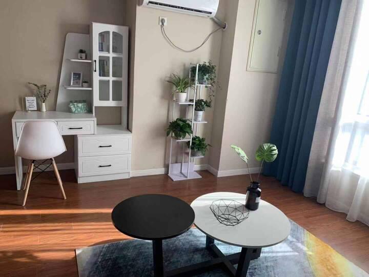 成悦之家——铜山万达58平单室公寓现代简约设计北欧田园风格豪华浪漫双人大床房师范大学附近