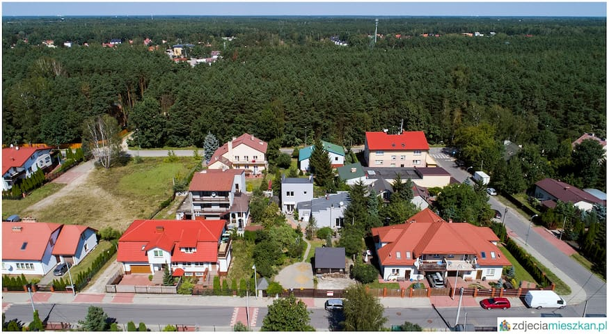 Warsaw (eastern part), quiet house next to forest