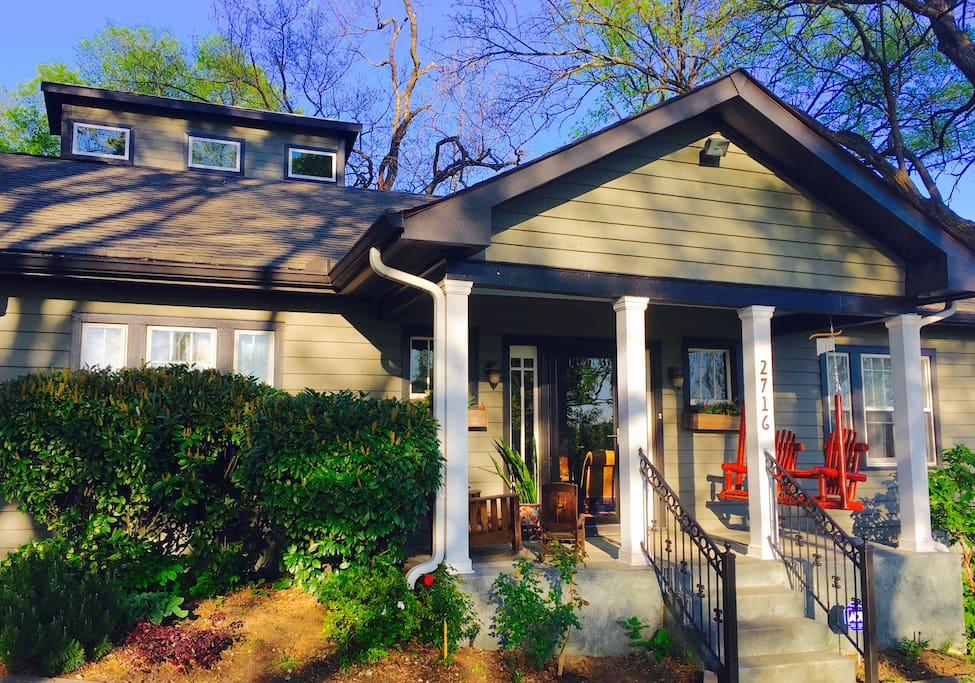 Enjoy the porch swing while considering one of the many restaurants, venues, and bars within walking distance.