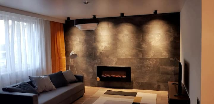 New! large apartment with fireplace and ellipsoid!