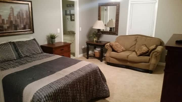 One Room Apartment with Private Off Street Parking