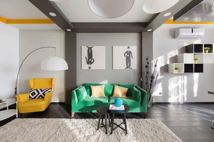 Стильная - уютная - просторная квартира :)