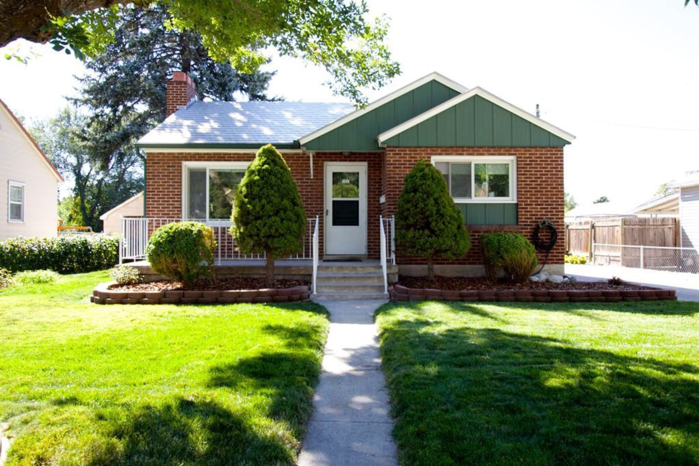 Our cute brick home! We love living here and would be thrilled to have you as a guest!