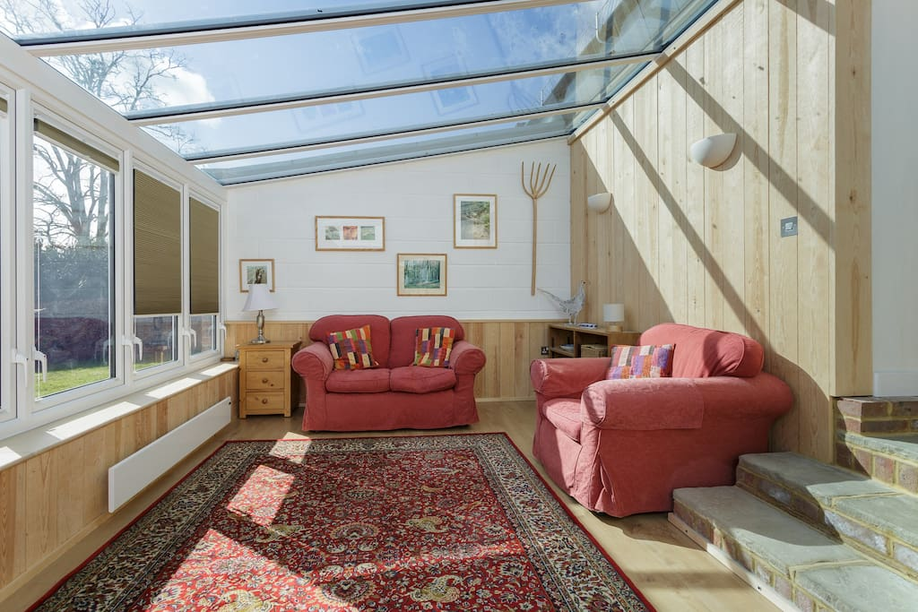 Fantastic new conservatory leading out to the patio and alfresco dining