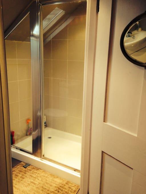 Shower room next door