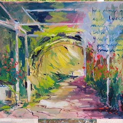 Pintura de la entrada al cortijo . Emilio Parejo
