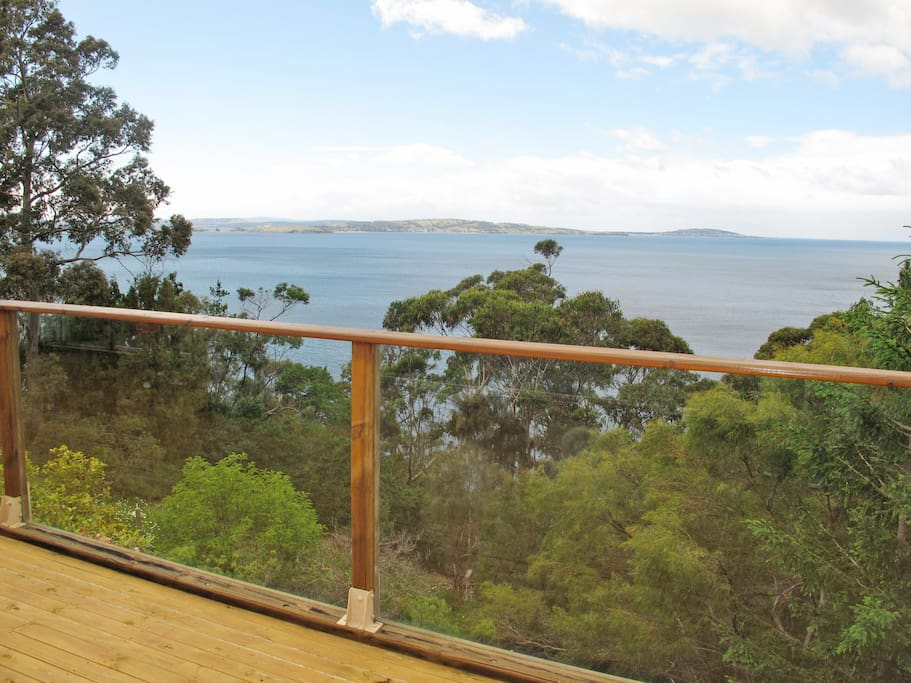 View from deck to the River Derwent