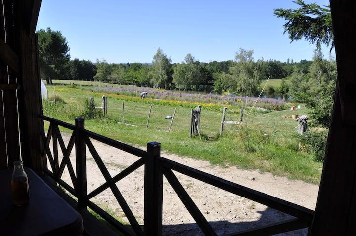 Mobil-home à la ferme dans un Parc Naturel