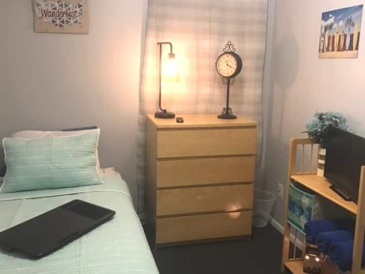 """Cozy Twin Adjustable Bed- """"Serenity Room"""""""