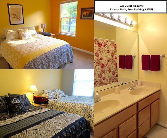 TWO GUEST ROOMS! Parking/WIFI - Clinton