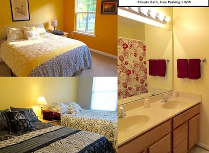 TWO GUEST ROOMS! Parking/WIFI - Casa