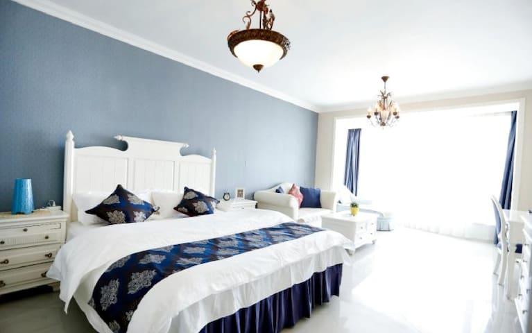 精致地中海风情海景一卧室房 - Qinhuangdao - Appartement