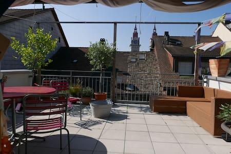 Helle Altstadt-Wohnung mit Dachterasse - Winterthur
