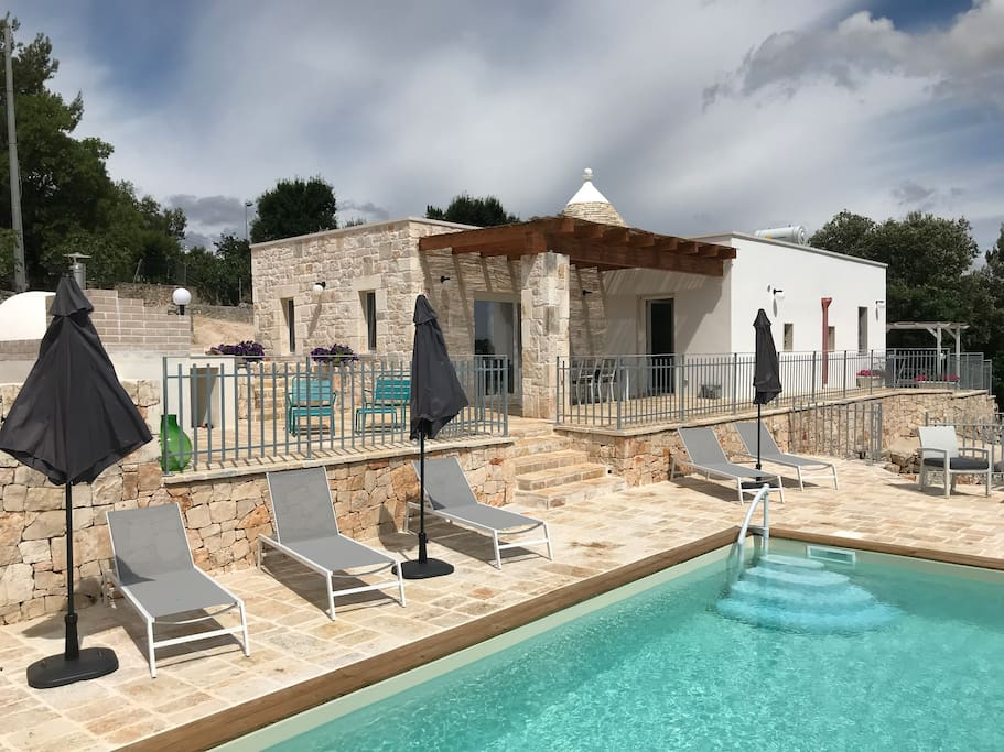 With all the original features of an ancient trullo but now with a completed modernisation plus extension, this is a stylish characterful villa.