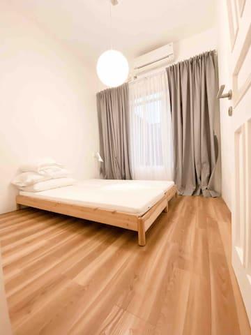 Japandi style bedroom