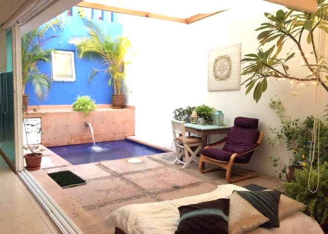 Whole ZEN house-loft with interior patio & pool - Bucerías - Casa
