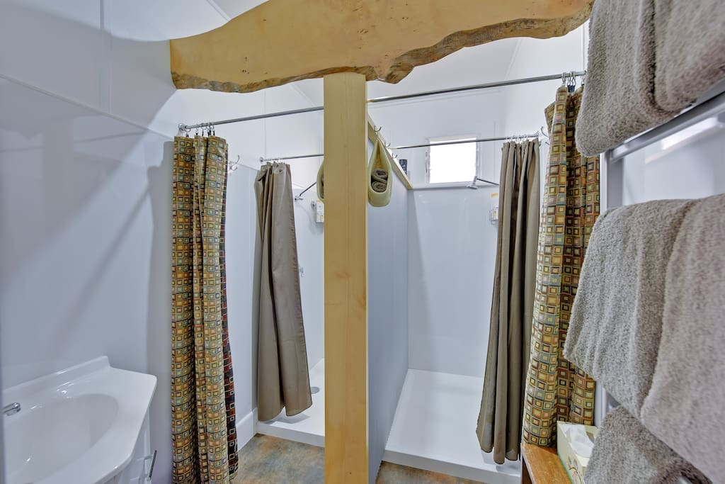 2 showers. Heated towel rail.