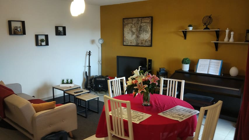 Chambre privée dans résidence calme et sécurisée