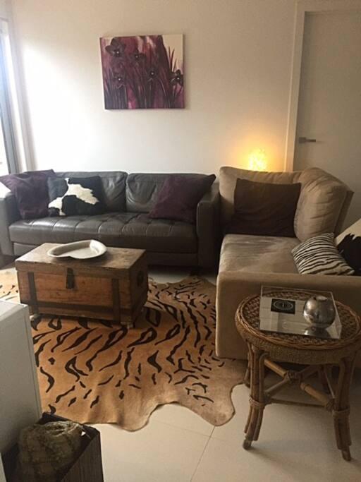 New York loft style living room