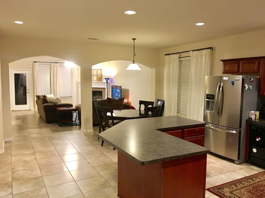 Kitchen, dinning room, living room open floor plan