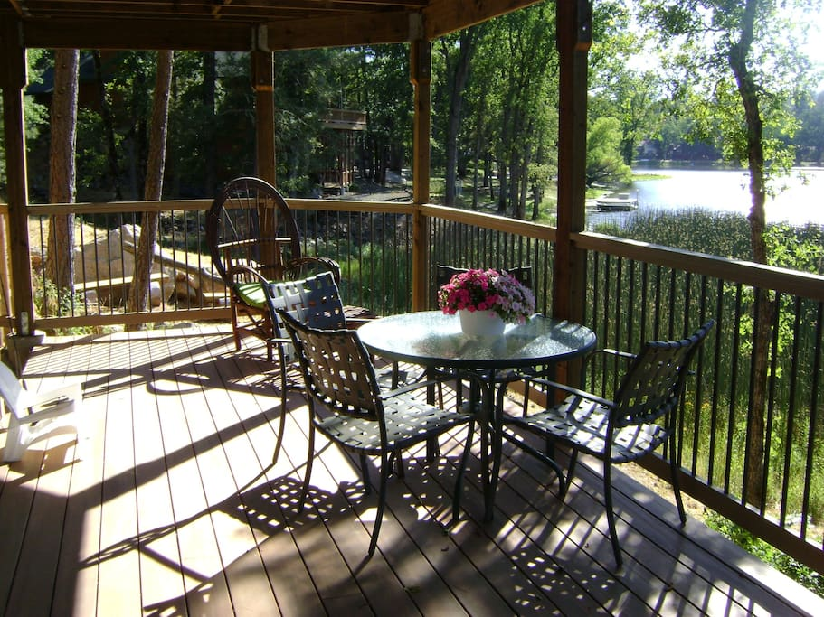 Your private deck to enjoy the Lake