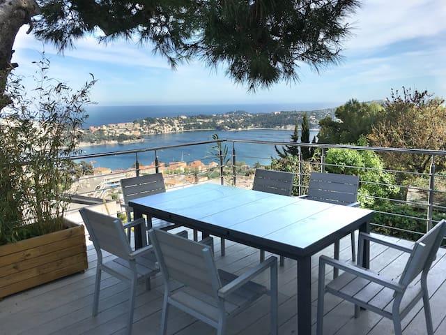 Villa Citrons et bateau Cat Tender 45.