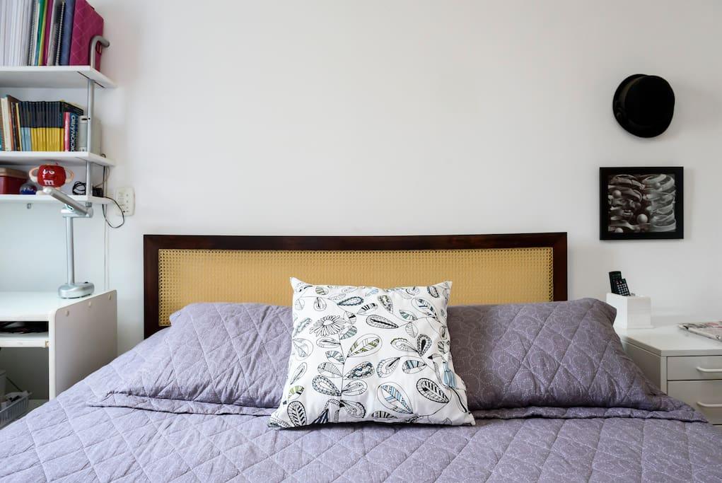 Quarto 1 - Suíte com cama queen size
