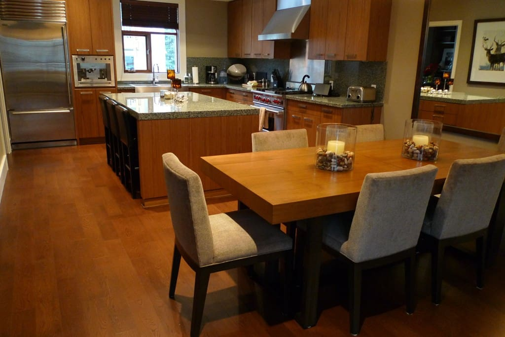 Dining area and kitchen. Seating for 8