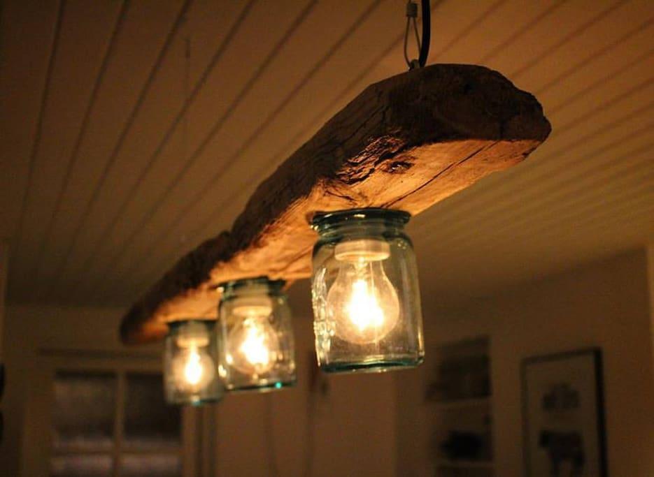 Nyligt tilføjet lampe over køkkenø