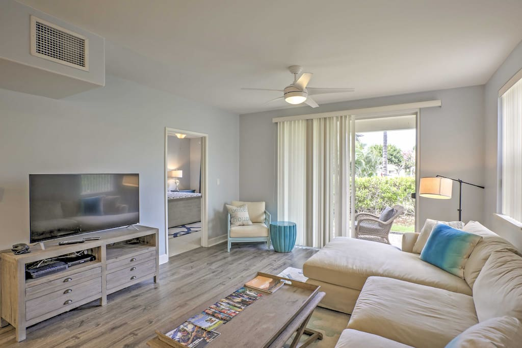 Sleek, modern furnishings and an abundance of natural light make this home comfortable and inviting.