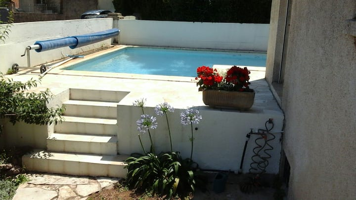 Sète, villa standing, confort, piscine et jardin