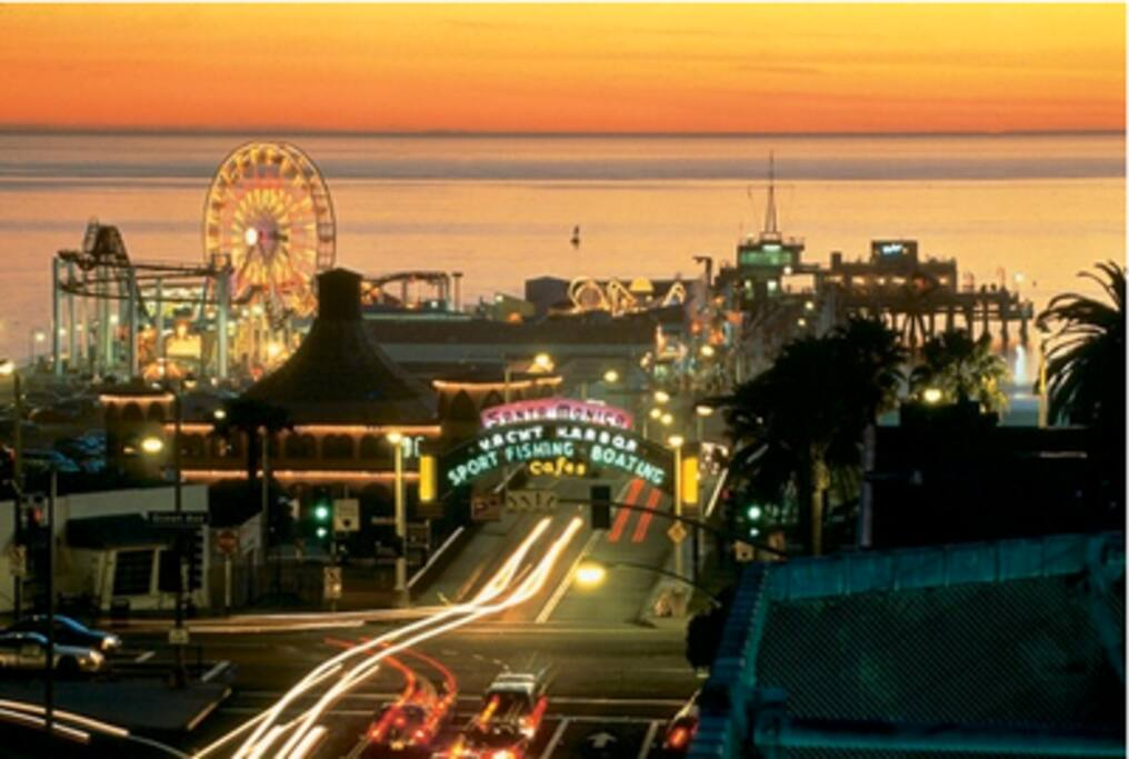 Santa Monica Pier - 13 blocks from the apartment!